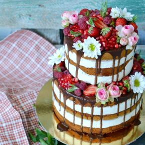 №218 Торт голый с ягодами