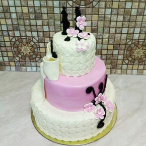 №417 Торт на свадьбу 3 яруса