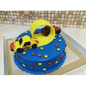 №424 Торт детский гонки